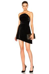 Brandon Maxwell Strapless Mini Dress In Black
