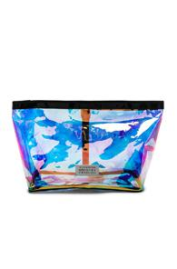 Maison Margiela Medium Holographic Pouch In Blue,purple