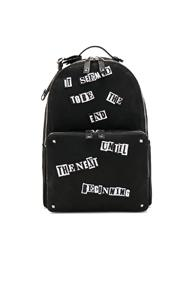 Valentino Printed Backpack In Black