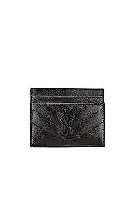 Saint Laurent Monogramme Card Case In Black