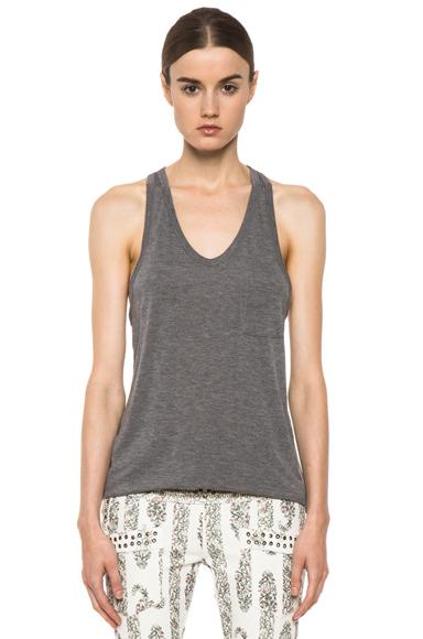 T By Alexander Wang Classic Tank With Pocket In Gray