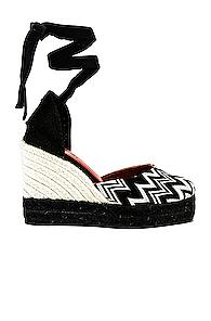 Castaner X Missoni Carina Wedge Espadrille In Abstract,black,white