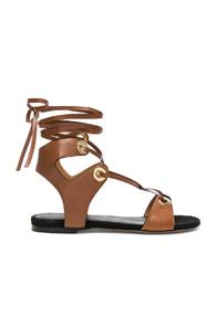 Isabel Marant Leather Jaysta Sandals In Brown