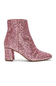 Mansur Gavriel Glitter Ankle Boot In Pink
