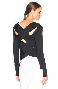 Dion Lee Line Ii Evening Bandage Back Knit Sweater In Blue,black