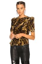 Isabel Marant Udell Top In Animal Print,brown,neutrals