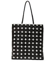 Alexander Wang Dome Stud Cage Shopper In Black