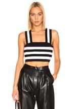 A.l.c. Tia Top In Black,stripes,white