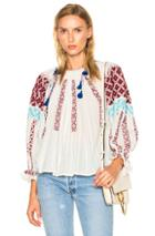 Ulla Johnson Mila Blouse In Abstract,white