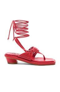 Reike Nen Unbalanced String Flip Flop In Red