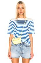 Acne Studios Megalin T Shirt In Blue,gray,stripes