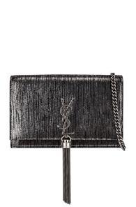 Saint Laurent Monogramme Kate Chain Tassel Wallet Bag In Black