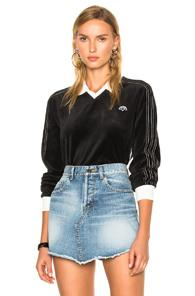 Adidas By Alexander Wang Velour Long Sleeve In Black