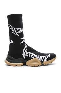Vetements X Reebok Metal Sock Boots In Black