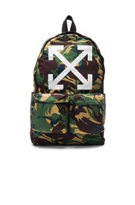 Off-white Arrows Backpack In Green,abstract