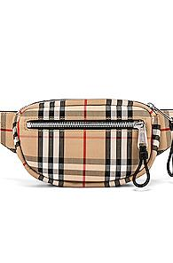 Burberry Cannon Bum Bag In Neutral,plaid