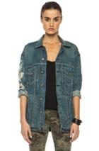 R13 Oversized Trucker Jacket In Blue