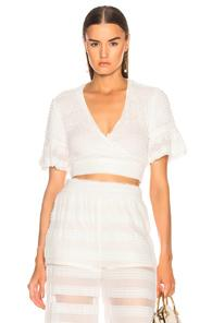 Jonathan Simkhai Side Tie Cover Up Top In White