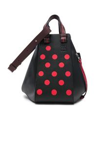 Loewe Hammock Circles Bag In Black,geometric Print