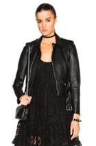 Saint Laurent Leather Motorcycle Jacket In Black