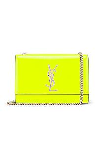 Saint Laurent Monogramme Kate Crossbody Bag In Yellow