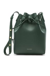 Mansur Gavriel Mini Bucket Bag In Green