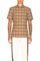 Burberry Alexander Shirt In Checkered & Plaid,neutrals