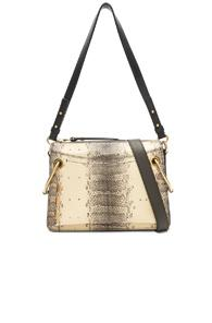 Chloe Small Roy Printed Watersnake Shoulder Bag In Neutral,animal Print