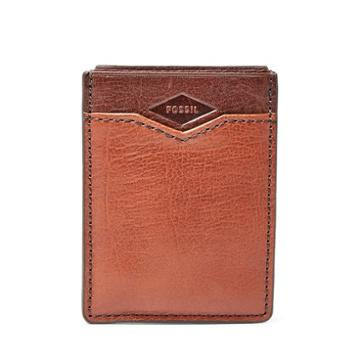 Fossil Easton Rfid Front Pocket Wallet  Wallet Brown Multi- Sml1433914