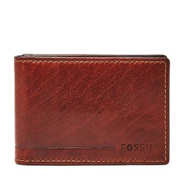 Fossil Allen Rfid Magnetic Front Pocket Wallet  Wallet Tan- Sml1546231