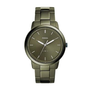 Fossil The Minimalist Three-hand Olive Gray Stainless Steel Watch  Jewelry - Fs5460