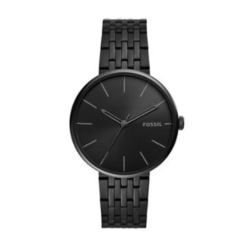 Fossil Hutton Three-hand Black Stainless Steel Watch  Jewelry - Bq2440