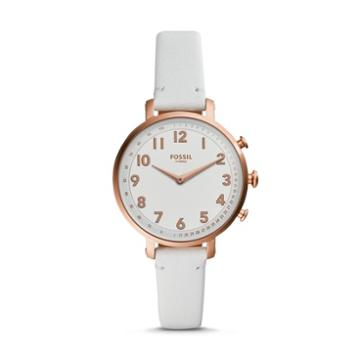 Fossil Hybrid Smartwatch - Cameron White Leather  Jewelry - Ftw5045