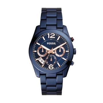Fossil Perfect Boyfriend Sport Multifunction Blue Stainless Steel Watch Es4093 Blue