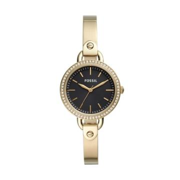 Fossil Classic Minute Three-hand Gold-tone Stainless Steel Watch  Jewelry - Bq3425