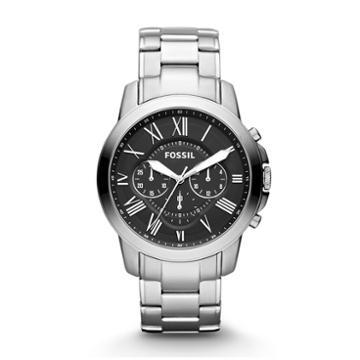 Fossil Grant Chronograph Stainless Steel Watch   - Fs4736ie
