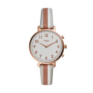 Fossil Hybrid Smartwatch - Cameron Gray Stripe Leather  Jewelry - Ftw5049
