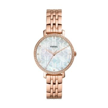 Fossil Jacqueline Three-hand Rose Gold-tone Stainless Steel Watch  Jewelry - Es4602