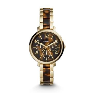 Fossil Jacqueline Multifunction Gold-tone Stainless Steel And Acetate Watch  Jewelry - Es3925