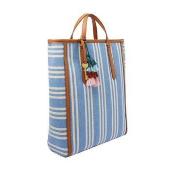 Fossil Camilla Convertible Backpack  Handbags Crystal Blue Stripe- Zb7737772