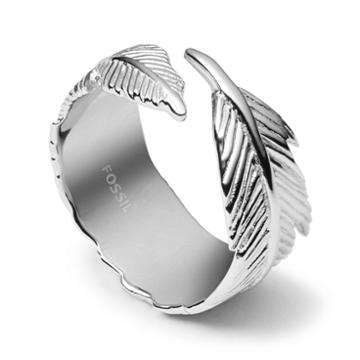 Fossil Sterling Silver Feather Ring Jfs004080405.5