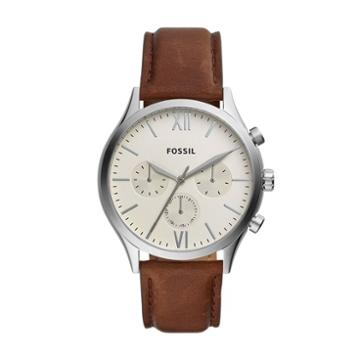 Fossil Fenmore Midsize Multifunction Brown Leather Watch  Jewelry - Bq2363