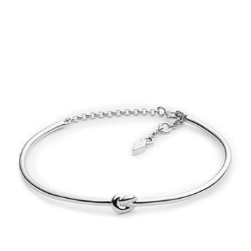 Fossil Sterling Silver Knot Bracelet Jfs00402040