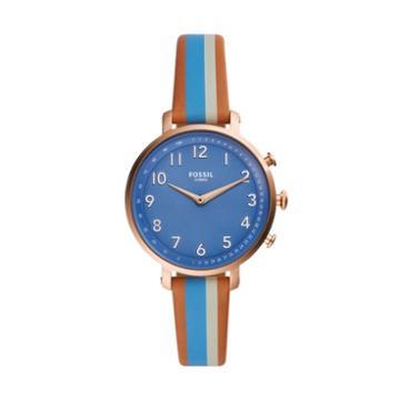 Fossil Hybrid Smartwatch - Cameron Blue Stripe Leather  Jewelry - Ftw5050