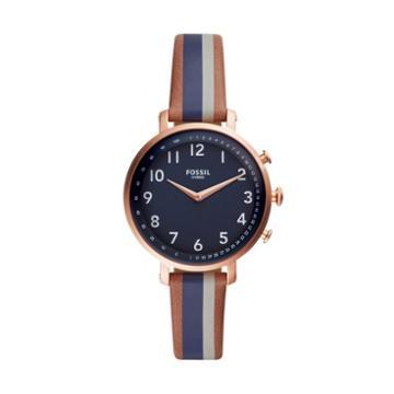 Fossil Hybrid Smartwatch - Cameron Luggage Stripe Leather  Jewelry - Ftw5052