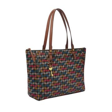 Fossil Rachel Tote  Handbags Black Multi- Zb7446016