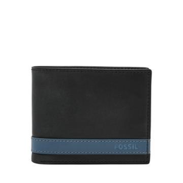 Fossil Quinn Flip Id Bifold  Wallets Blue- Ml3644470