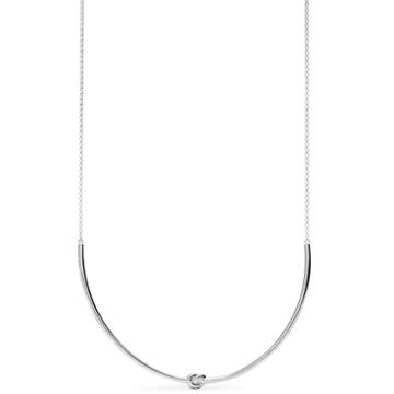 Fossil Sterling Silver Knot Necklace Jfs00403040