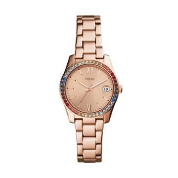 Fossil Scarlette Three-hand Rose Gold-tone Stainless Steel Watch  Jewelry - Es4491