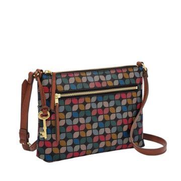 Fossil Fiona Ew Crossbody  Handbags Black Multi- Zb7270016